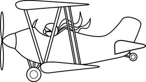 Pilot clipart old airplane Image: Biplane of Coloring an