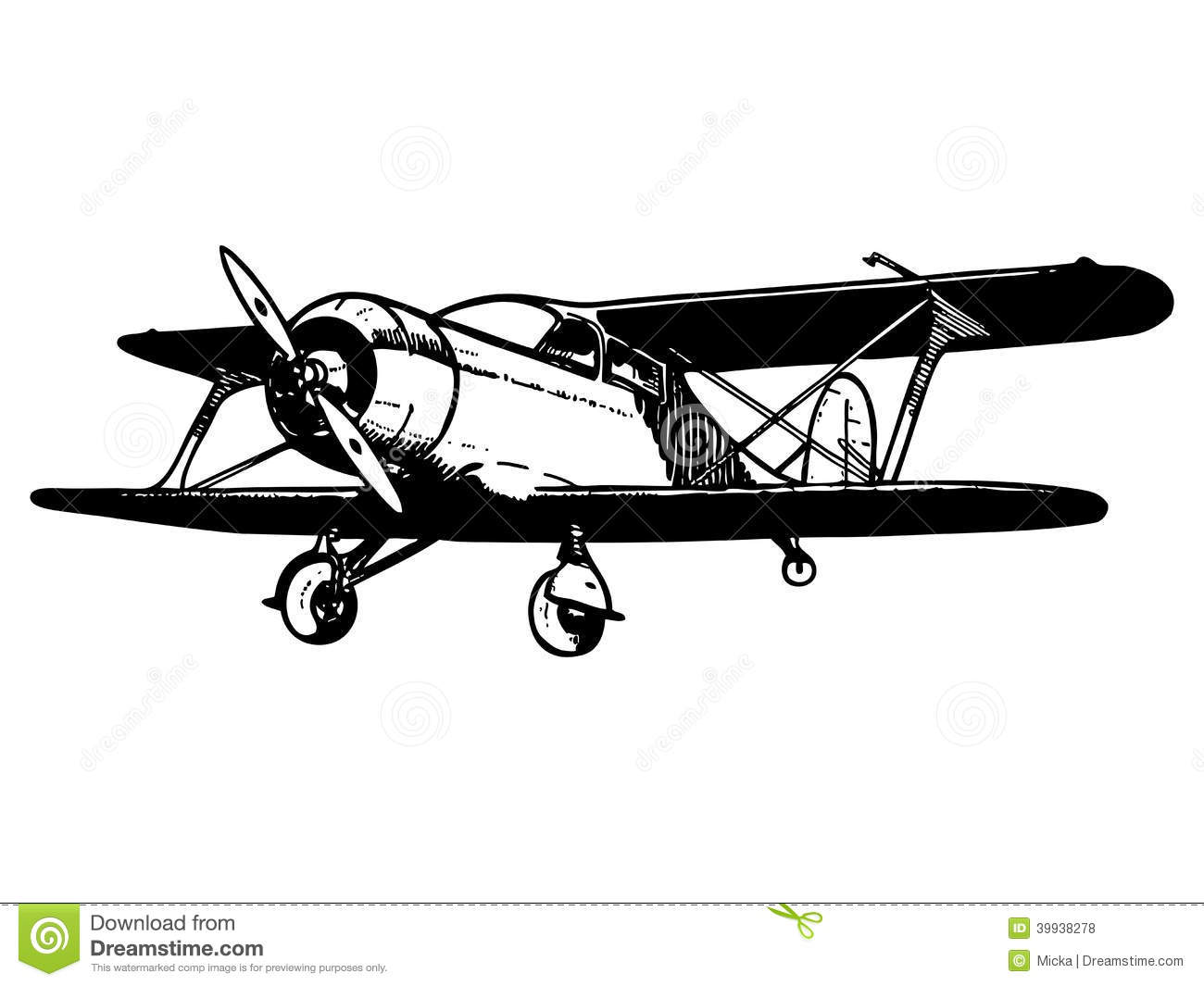 Pilot clipart old airplane Clipart  Free Airplane Vintage