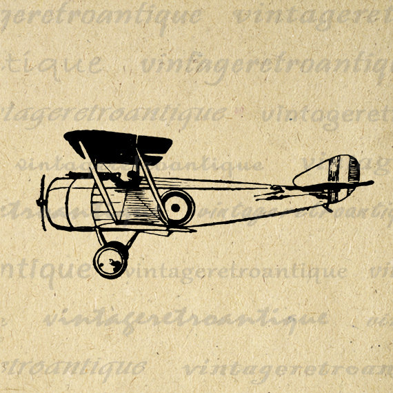 Aviation clipart old plane Old Eps Plane Printable Airplane