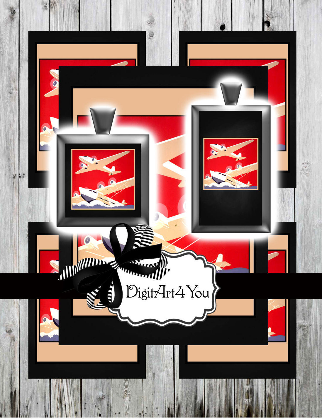 Pilot clipart red vintage airplane #15