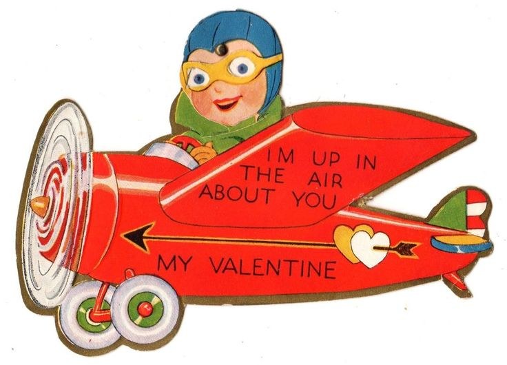 Pilot clipart red vintage airplane #14