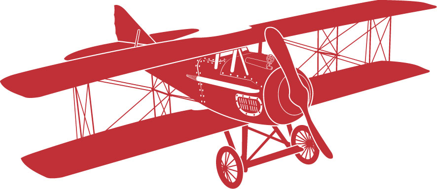 Pilot clipart red vintage airplane #10