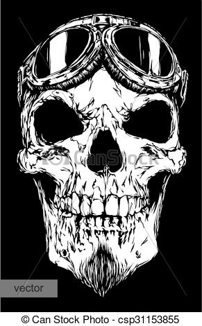 Ssckull clipart pilot With on with of beard
