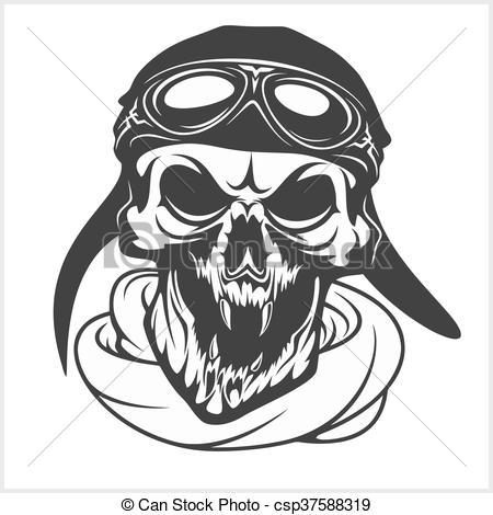 Ssckull clipart pilot Of pilot pilot glasses Clip