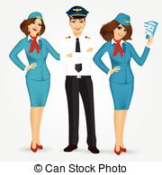 Pilot clipart steward #3