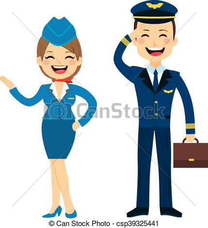 Pilot clipart steward #2