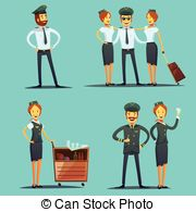 Pilot clipart steward Air and And  Clip