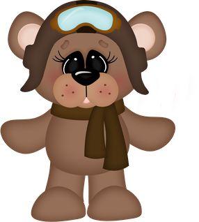 Pilot clipart teddy bear #1