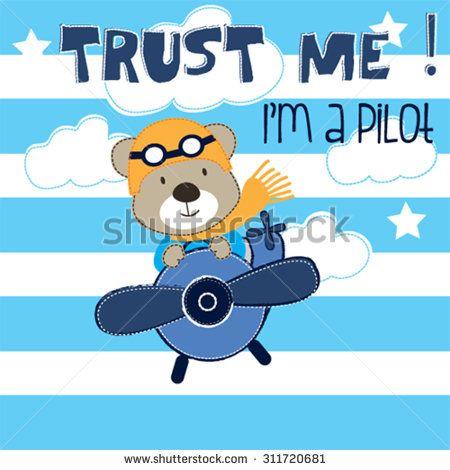 Pilot clipart teddy bear #5