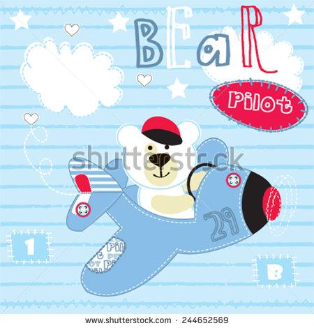 Pilot clipart teddy bear #6