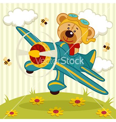Pilot clipart teddy bear #2
