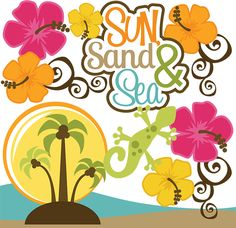 Vacation clipart cute beach For svg Vector files vacation