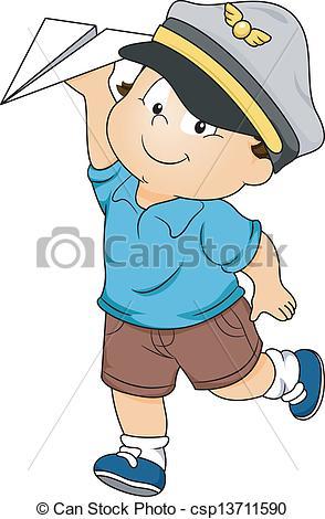 Boy clipart pilot Of Toddler a Boy Boy