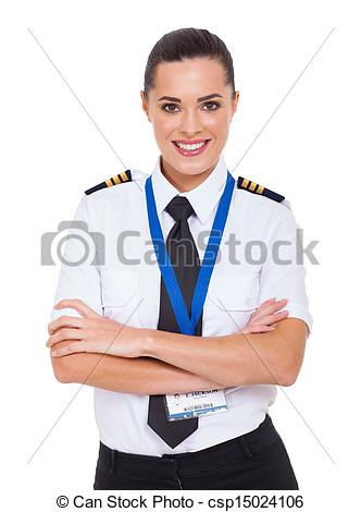 Pilot clipart woman pilot Airline beautiful female of beautiful