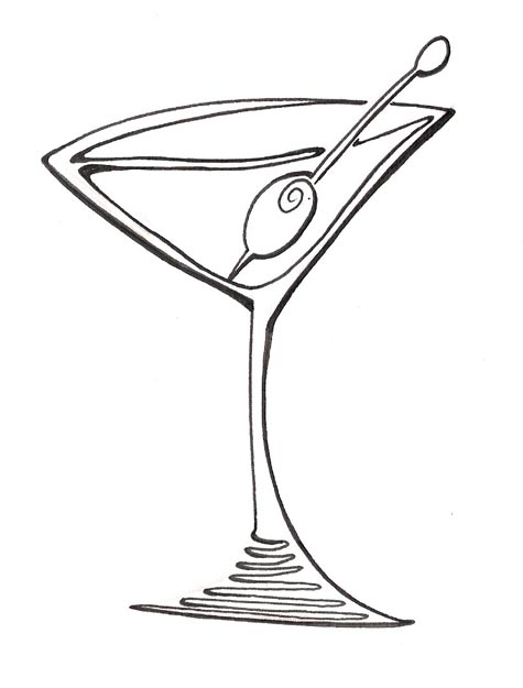 Purple clipart martini glass #8