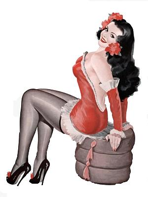 Pin Up  clipart vintage #13