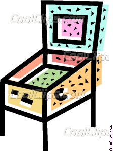 Pinball clipart Pinball machine art Clip pinball