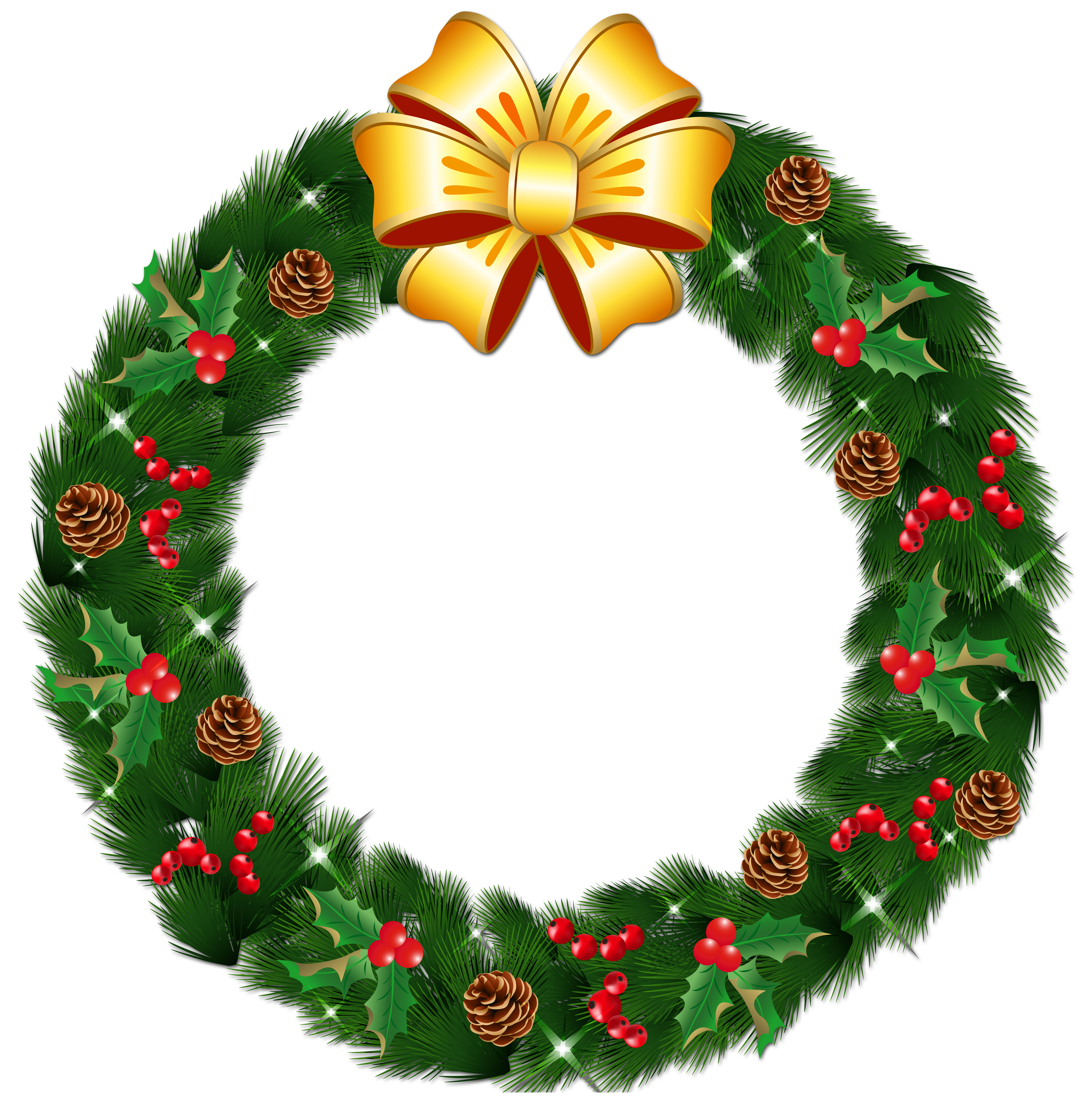 Wreath clipart transparent background Pine Wreath Christmas with Transparent