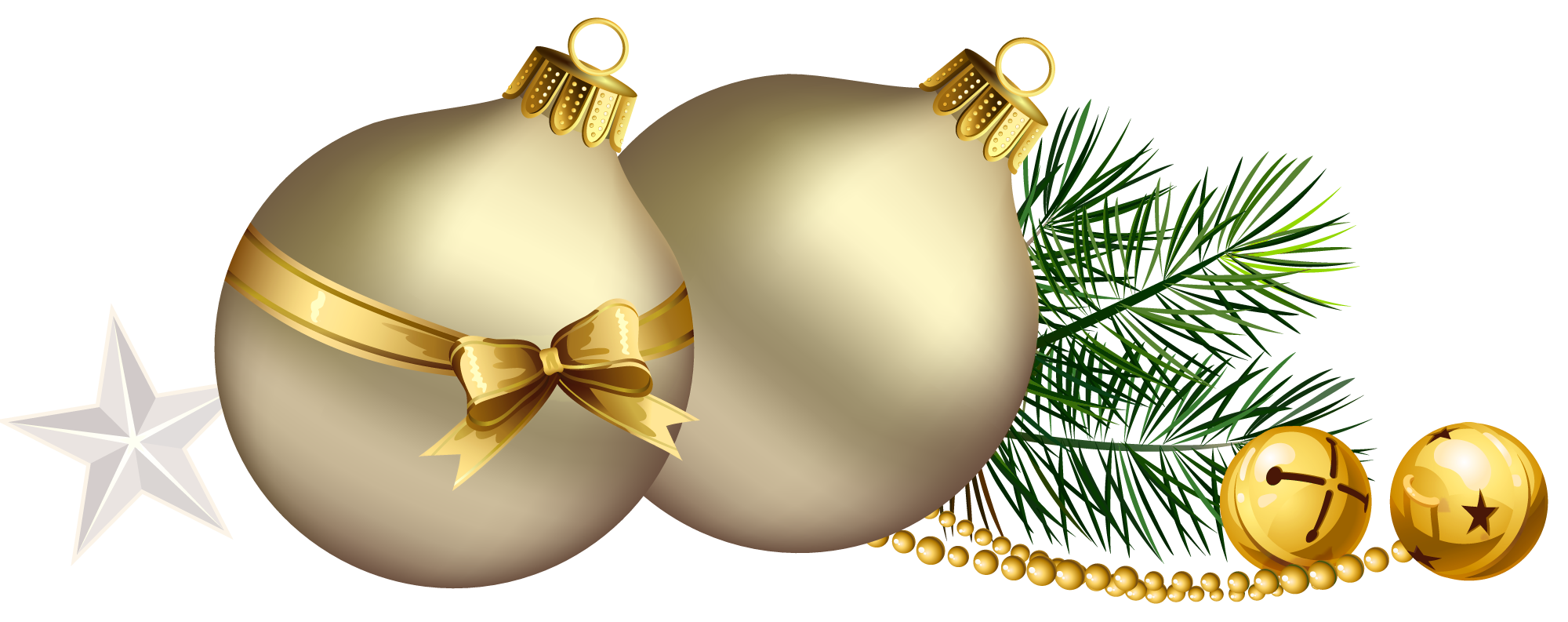 Pine clipart christmas Branch star with christmas Christmas