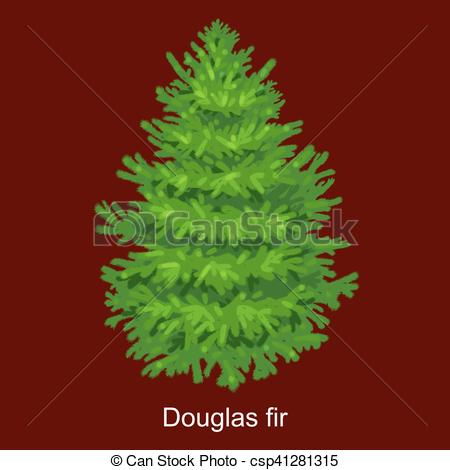 Pine clipart treee Without xmas Vector year Art
