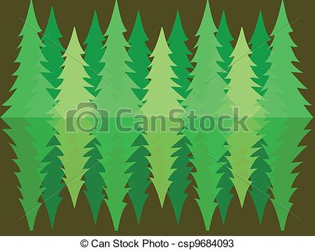 Pine clipart forestry Reflection csp9684093 forest reflection