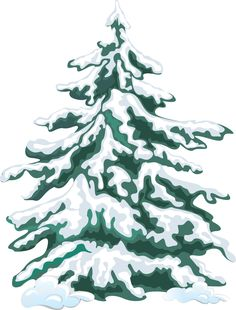 Winter clipart christmas tree Snow winter clip art pdclipart