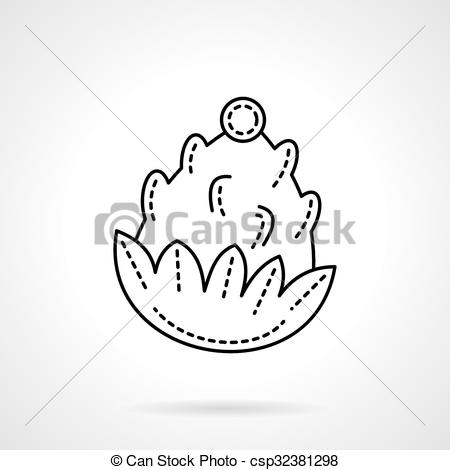 Pine Cone clipart abstract Website or app nature icon