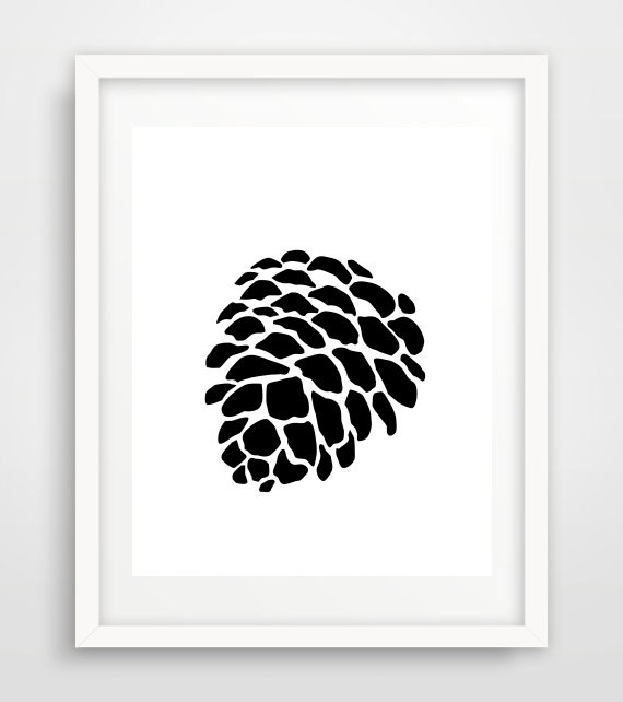 Pine Cone clipart abstract Pine Download Instant Black white
