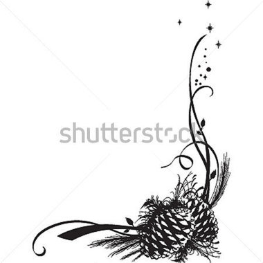 Pine Cone clipart border And cone Pine (33+) frames