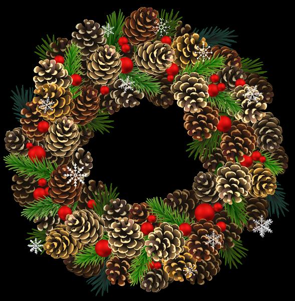 Wreath clipart transparent background  Clipart Transparent PNG Christmas