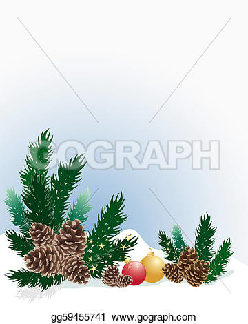Pine Cone clipart snowy On Stock a Illustration christmas
