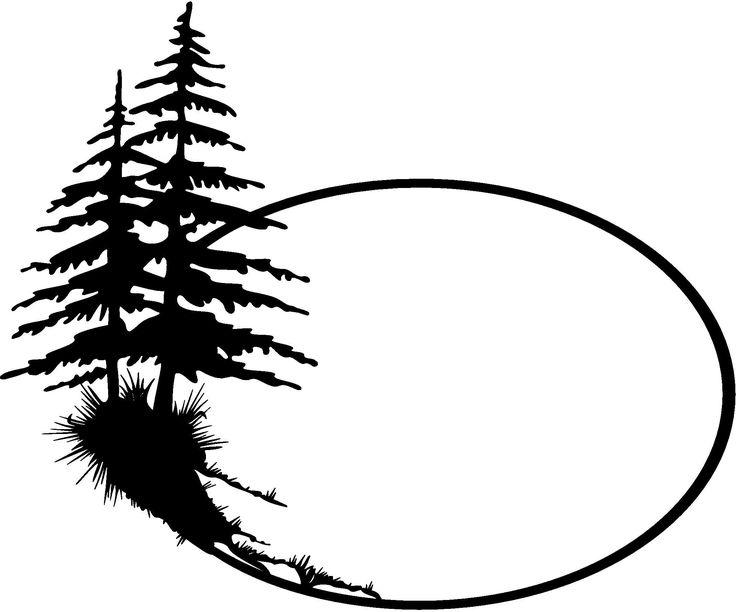 Shaow clipart pine tree Art Silhouette pine Pinterest Clip