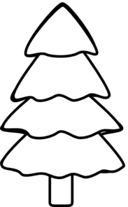 Pine clipart black and white Free And Pine  Tree