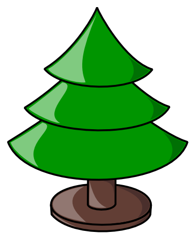 Christmas Tree clipart scene Christmas collection Clipart Free tree