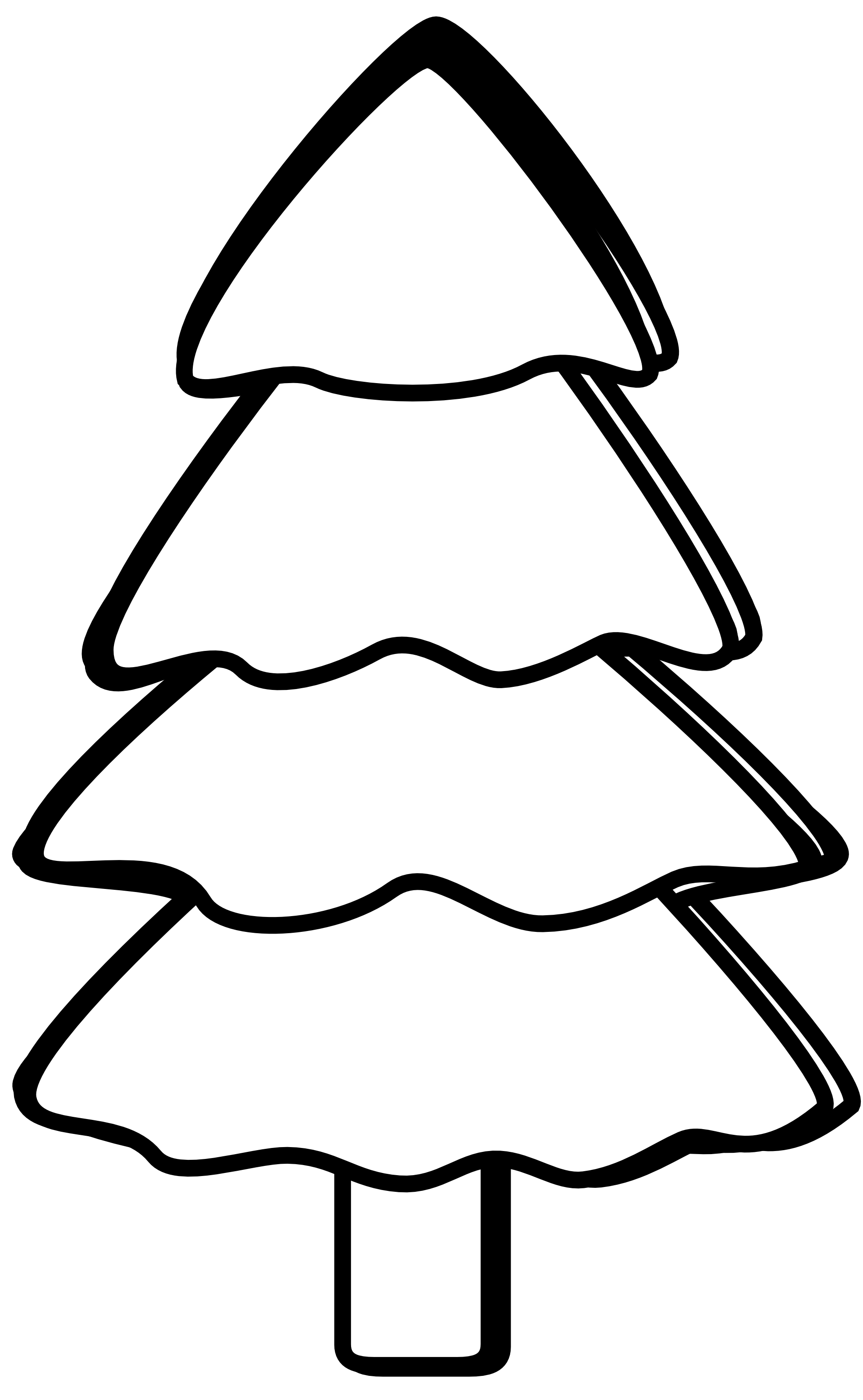 Black & White clipart tree Free Drawing Black library Clipart