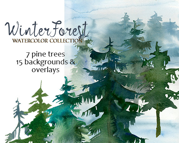 Pine Tree clipart fir tree Forest Wedding Trees Winter Use