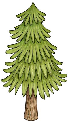 Pine clipart forest tree Clipart pine tree with trees
