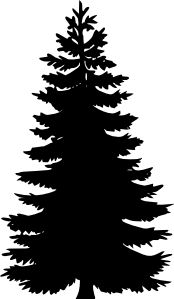 Pine Tree clipart frozen  Google Tree MASK Silhouettes