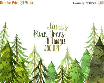 Pine Tree clipart green mountain Download clip Pine Watercolor Download