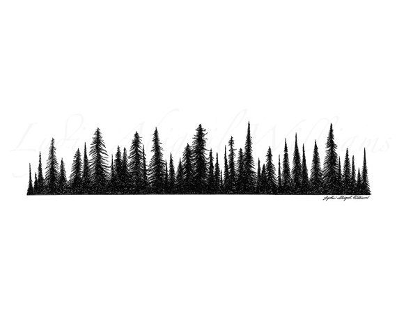 Pine Tree clipart tress Tattoo Silhouette Silhouette Forest forest