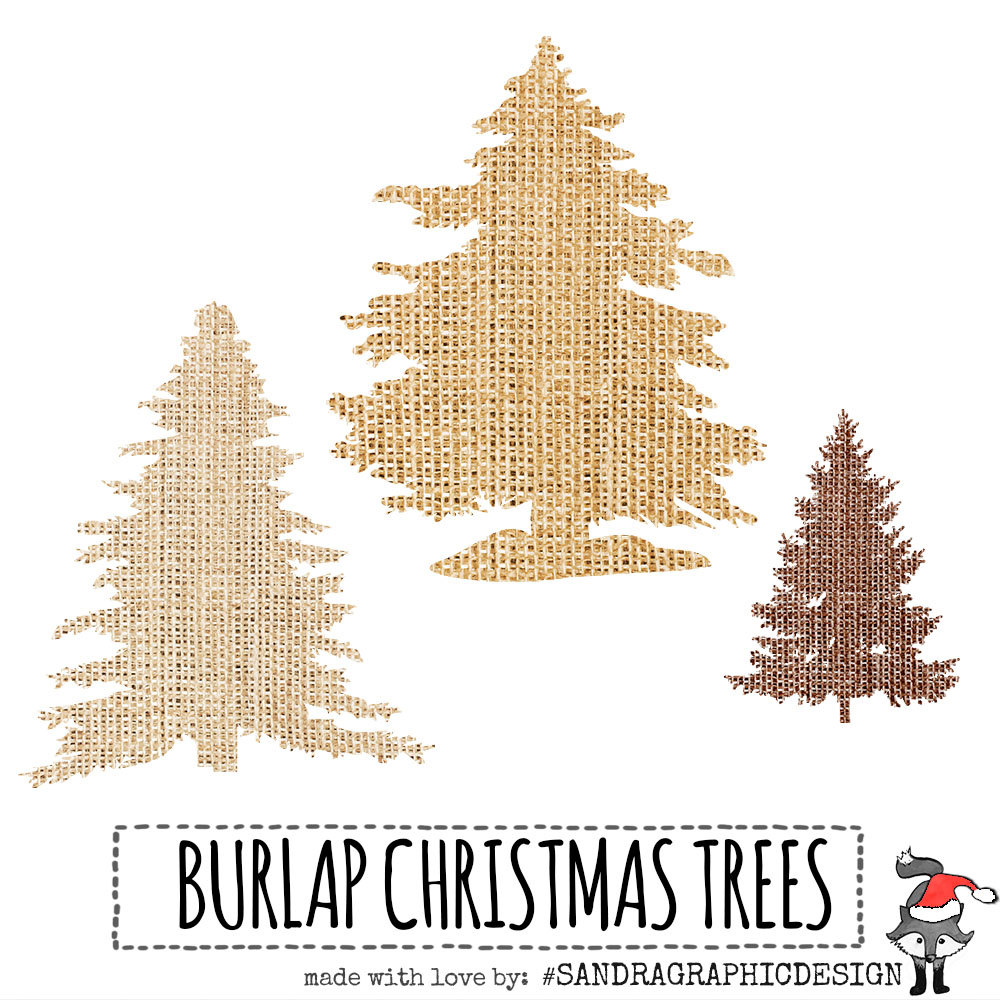 Christmas Tree clipart rustic With burlap PNG tree 9