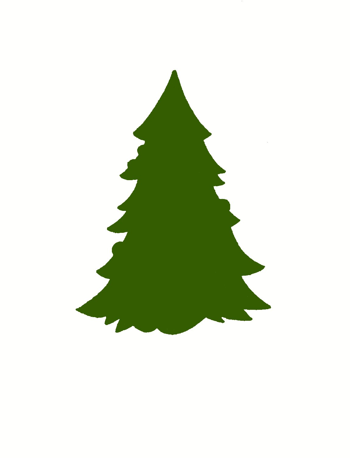 Pine Tree clipart simple Trees Clipart Free Images Silhouette
