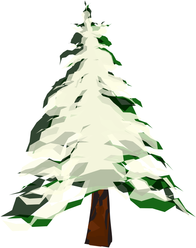 Winter clipart christmas tree Art Clip Trees Free Pictures