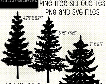 Pine Tree clipart tree silhouette Pine Silhouettes Etsy Trees Scrapbooking
