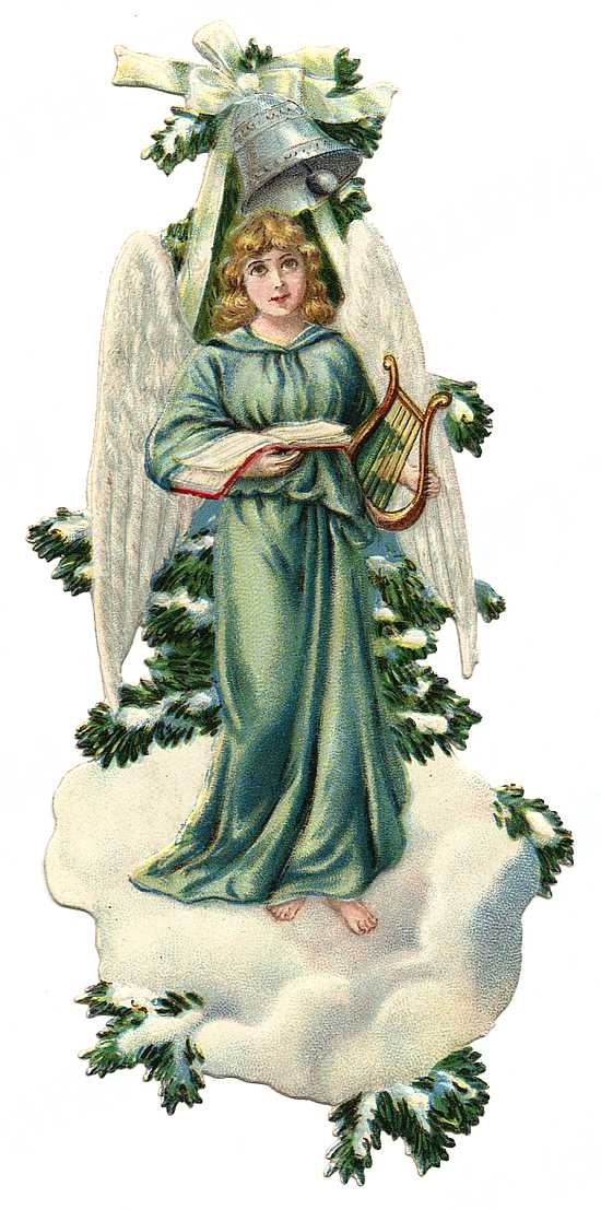 Pine clipart victorian christmas Crafts vintage from angel branch