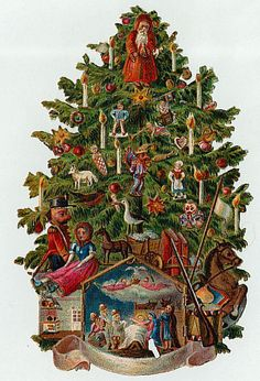 Pine Tree clipart victorian christmas Christmas victorian and scrap; Lights