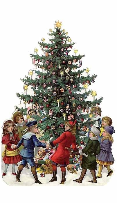 Pine Tree clipart victorian christmas Images Pin about and christmas