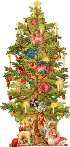 Pine clipart victorian christmas Christmas tree Over more www