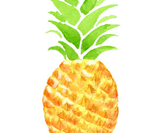Pineapple clipart Pineapple art Exotic Tropical Clipart