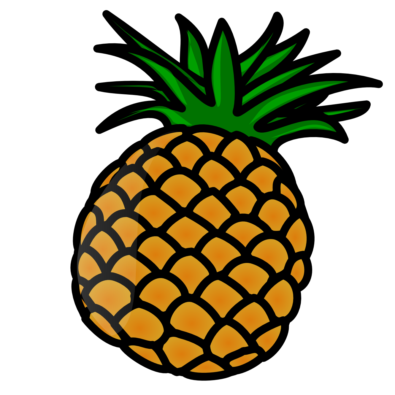 Pineapple clipart two Art Clip Art Clip Pineapple